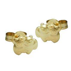 earring studs bear 9k gold