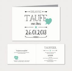 Herzlichst - Schönes auf Papier | Babykarten Black & White | Einladung zur Taufe
