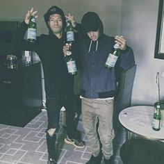 i love how they're holding sparkling water and not alcohol