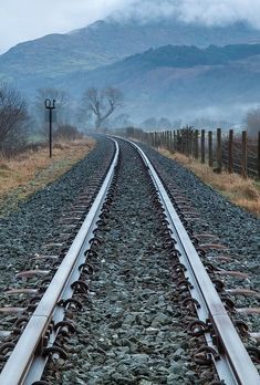 Trains & Travel: heading into the mists, Snowdonia, Wales. Train Pictures, Cool Pictures, Locomotive, Snowdonia National Park, Old Trains, Train Tracks, Railroad Tracks, Railroad Bridge, The Great Outdoors