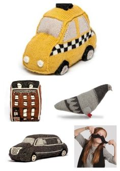 Awesome NYC themed toys for babies, all fair trade and hand-knit.