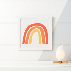 Shop Red Rainbow Framed Wall Art. With a simple, tricolor palette, and a understated design, our Red Rainbow framed wall art is a unique take on classic rainbows. The crisp, white background provides the perfect backdrop for this eye-catching design....