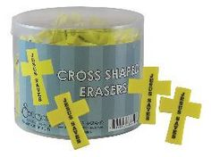 Peace Be With U - Jesus Saves Cross Eraser - 4 Pack, $2.49 (http://www.peacebewithu.com/jesus-saves-cross-eraser-4-pack/)