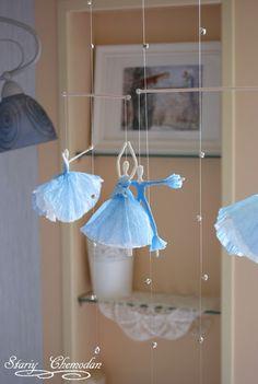 How to make a ballerina tutu Wire Crafts, Diy And Crafts, Arts And Crafts, Upcycled Crafts, Diy Paper, Paper Art, Paper Crafts, Cute Kids Crafts, Crepe Paper