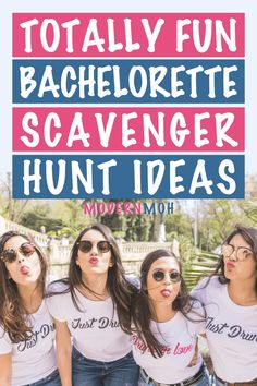 Check out these totally fun bachelorette party ideas and examples here! #bachelorettepartyscavengerhunt #bachelorettescavengerhunt #ModernMOH Bachelorette Party Scavenger Hunt, Bachelorette Party Activities, Bachelorette Party Planning, Scavenger Hunt Games, Photo Scavenger Hunt, Girls Weekend, Girls Night Out, Funny Drinking Games, Prom Poses