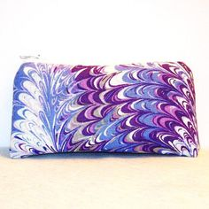 """Purple & Grey Oil Slick Cotton Padded Pipe Pouch 5.5"""" / Glass Pipe Case / Spoon Cozy / Piece Protector / Pipe Bag / SMALL by PouchAPalooza, $10.00"""