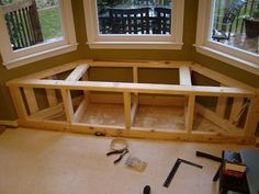 Little beknown to us, this window seat project would cause an entire kitchen re-do! Westarted the window seat last falland ended the kitch...