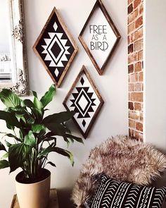 988 Likes, 34 Comments - Kacy Brynn Diy Bedroom Decor, Living Room Decor, Diy Home Decor, Living Rooms, Diy Wood Signs, Home And Deco, Bohemian Decor, Gypsy Decor, New Wall