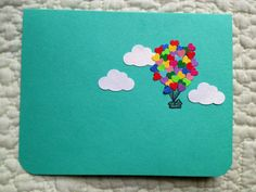Heart Balloon House Card by theadoration on Etsy, $4.00