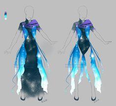 Outfit adopt: Galactic dress - Closed by Sellenin.deviantart.com on @DeviantArt