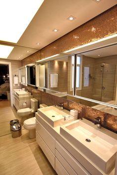 Banho Casal : Casas de banho modernas por AL11 ARQUITETURA