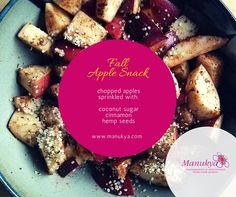 Apple Snacks, Hemp Seeds, Coconut Sugar, French Toast, Yummy Food, Quelque Chose, Free, Breakfast, Health
