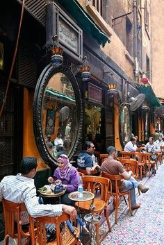 El Fishawy coffee shop, Cairo, Egypt - Explore the World, one Country at a… Places Around The World, Oh The Places You'll Go, Places To Travel, Around The Worlds, Luxor, Beautiful World, Beautiful Places, Amazing Places, Cairo