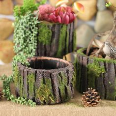 sweet house plant holders. Plant Pot Micro Mini Hanging Planters Garden Flower Holders Succulent  DIY Container with Sweet House for Home Decoration and Holiday Gift NCYP Artificial Driftwood Planter Resin Large Sculpture