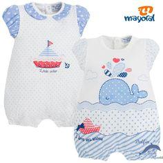 Set de 2 pijamas cortos MAYORAL marinero azul