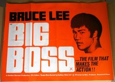 THE BIG BOSS original uk quad film movie poster BRUCE LEE 1971 very good cond. | eBay