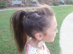Cute hair!! Bump the front, braid the sides, then put it all in a ponytail or messy bun
