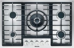 KM 2334 - Gas cooktop with a mono wok burner for special applications.--Stainless steel