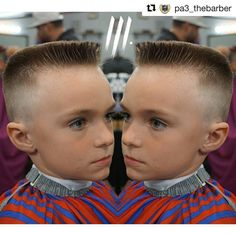 great looking flattop on this kidhope he helps bring