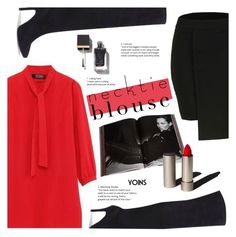 """""""Fall Trend: Necktie Blouse"""" by meyli-meyli ❤ liked on Polyvore featuring Taschen, Garance Doré, falltrend, yoins, yoinscollection and loveyoins"""