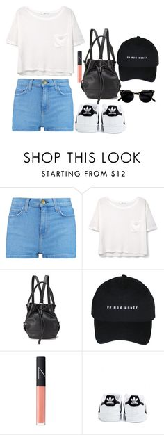 """""""Day out"""" by onedirectionlover1432 ❤ liked on Polyvore featuring beauty, Current/Elliott, MANGO, Opening Ceremony, NARS Cosmetics and adidas"""