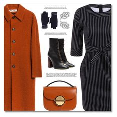 """Women in Coat"" by defivirda ❤ liked on Polyvore featuring Marni and E L L E R Y"