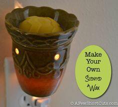 How to Make Your Own Scented Wax Melts from beewax and essential oils, a healthy alternative to scentsy.