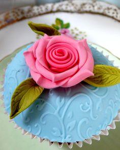 Rose cupcake #2013JuneDairyMonth  #CelebrateDairy
