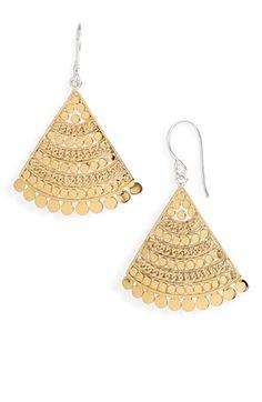 Anna Beck 'Flores' Chain Fan Earrings