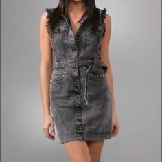 Charlotte Ronson Studded Denim Dress Charlotte Ronson Studded Denim Dress. Worn 1-2 times, like new condition. Goes great with black booties. Has pockets! Charlotte Ronson Dresses Mini