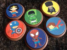 Chocolates..Para un cumpleaños de mini súper héroes