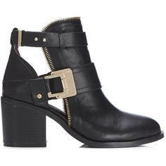 94e58598aef Miss Selfridge AVENGE Zip Topline Ankle Boots (725 GTQ) ❤ liked on Polyvore  featuring