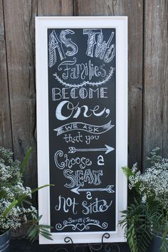 Wedding chalk board that we used for my wedding:) Thanks to Rebecca!