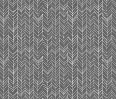 Featherland Gray fabric by leanne on Spoonflower - custom fabric - one of the nicer chevron patterns I've seen!