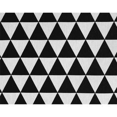 Black and white triangles fabric. Stof Joep Kwantum.