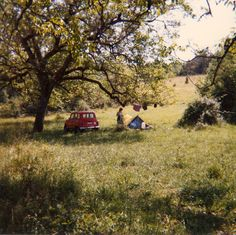 Wild camping in Les Eyzies, South France (via Flickr)