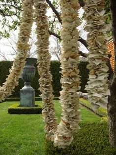 Book paper garland