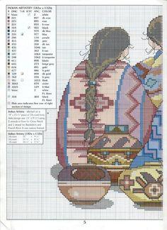 Indian Artistry - 2/3 Solo Patrones Punto Cruz (pág. 282) | Aprender…