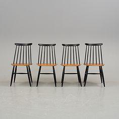 """ILMARI TAPIOVAARA, stolar, 4 st, """"Fanett"""", Edsbyverken, 1950/60-tal."""