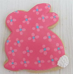 Floral Bunny cookies with cute tails