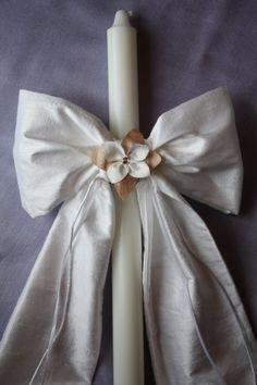 Antique White Silk Lambada for your wedding or Christening ceremony decoration Handmade Wedding, Diy Wedding, Fall Wedding, Wedding Favors, Wedding Themes, Baby Girl Baptism, Baby Christening, Baptism Candle, Orthodox Wedding