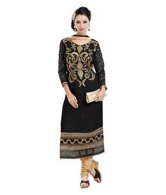 Loved it: Monalisa Fabrics Black Faux Georgette Unstitched Dress Material, http://www.snapdeal.com/product/monalisa-designer-black-georgette-patiala/618849281866