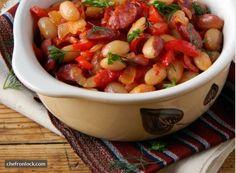 Crockpot Sausage, Bean and Tomato Stew