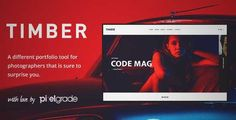 Download and review of TIMBER – An Unusual Photography WordPress Theme, one of the best Themeforest Creatives themes