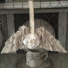 OUR CRAFTY MOM: HANDMADE ANGEL WINGS & DOVE ORNAMENTS ~ shared on Brag About It link party on VMG206 (Mondays at Midnight!) #VMG206 #BragAboutIt