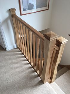 The tapered middle of our perfectly proportioned sleek spindles are strikingly elegant in any home to create a truly unique stairway. Wooden Staircase Design, Staircase Spindles, Loft Staircase, Timber Staircase, Staircase Remodel, Staircase Makeover, Wooden Staircases, Stair Railing, Foyer Colors