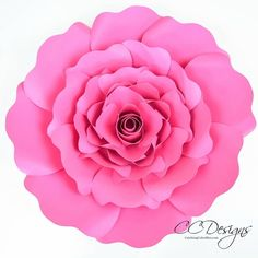Penelope Paper Rose Template - DIY Paper Rose Patterns - Catching Colorflies