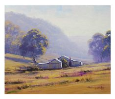 FARM Oil PAINTING Original AUSTRALIAN Landscape by GerckenGallery, $158.00