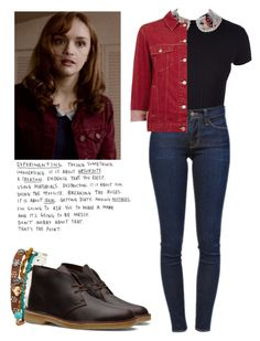 """""""Emma Decody - Bates Motel"""" by shadyannon ❤ liked on Polyvore featuring Vans, RED Valentino, Aéropostale, Frame Denim, Topshop and Clarks"""