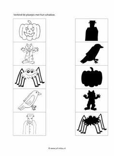 Download de pdf door op dit image te klikken Halloween Crafts For Kids, Halloween Games, Halloween 2017, Halloween Party, Halloween Worksheets, Pumpkin Crafts, Activity Sheets, Ms Gs, Book Activities